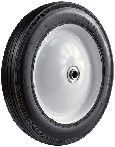 Martin Wheel 110 10 by 1.75-Inch Light Duty Steel Wheel for Lawn Mower, 1/2-Inch Ball Bearing, 2-1/16-Inch Centered Hub, Rib Tread by Martin Wheel
