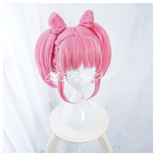 Chibiusa Sailor Moon Costume (COSPLAZA Cosplay Wigs Pretty Pink Styled Anime Halloween Hair For Girls)