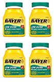 Bayer Aspirin Regimen, Low Dose (81 mg), Enteric Coated, 300 Count, 4 Pack