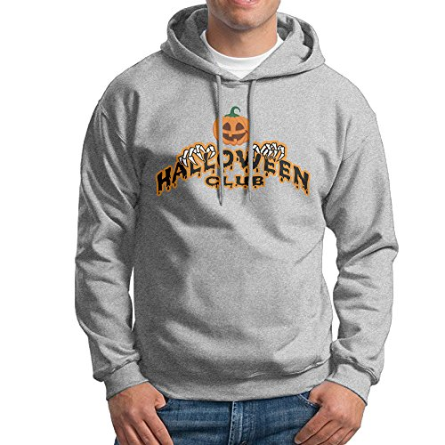 ACFUN Men's Halloween Club Sweater Size M Ash