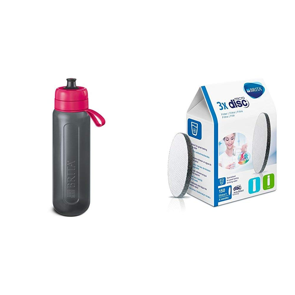 BRITA Active XL Sports Water Filter Bottle, Lime, 1 L 1025712