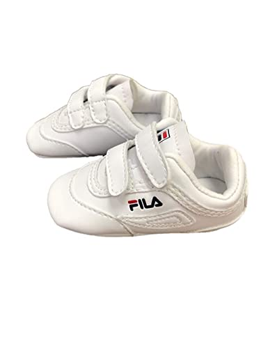 2c7fc8a77437d Fila Infant Disruptor II Crib Shoes (3) White Navy Red