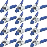 Lot of 12-6'' inch Spring Clamp Large Super Heavy Duty Spring Metal Blue - 3 inch Jaw Opening