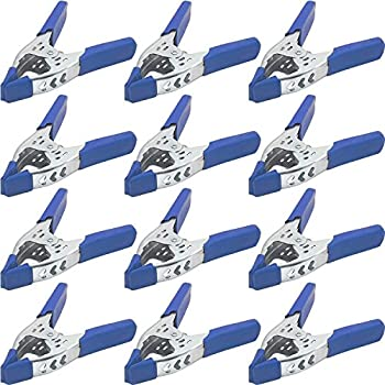 """4 Pack 6/"""" inch BLUE Clamp Heavy Duty Spring Metal 3 inch Jaw opening maximum"""