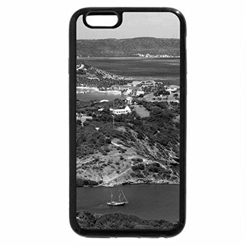 iPhone 6S Plus Case, iPhone 6 Plus Case (Black & White) - Beautiful Antigua