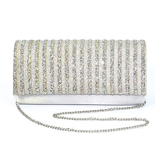 Glitter Womens Jodie Lunar Bag Silver Clutch Lunar Womens xaqgwa4