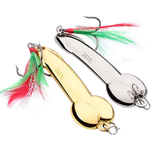 Spoon Fishing Lures Metal Jig Lure Cranbait Casting Sinker Spoons with Feather Treble Hooks for Trout Bass Walleyes Spinner Baits (Gold 5G pack of 5pcs) Bass Spinner