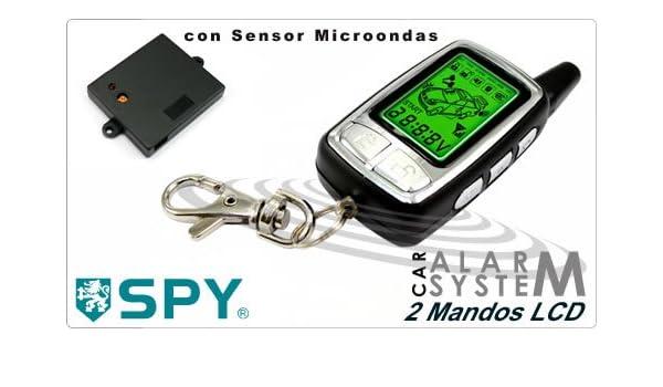 Alarma Coche SPY 2 Mandos. Sensor Microondas y Encendido ...