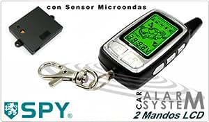 Alarma Coche SPY 2 Mandos. Sensor Microondas y Encendido Remoto
