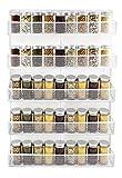 IZLIF 5 Tier Wall Mount Spice Rack Organizer Kitchen Storage Shelf,White