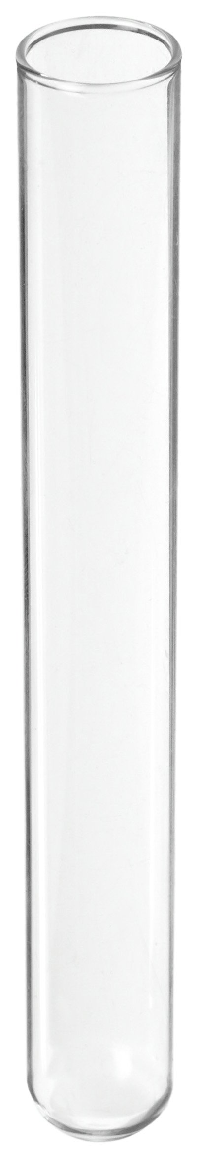 Kimble 73500-650 N-51A Borosilicate Glass 1mL Disposable Culture Tube, with Rim Top, Clear (Case of 1000)