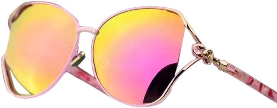 BXGZXYQ Gafas versátiles ocasionales delicadas para mujeres, gafas de sol polarizadas Diseño de moda clásico de alta gama, protección UV para viajes de conducción al aire libre (Color : Rosado)