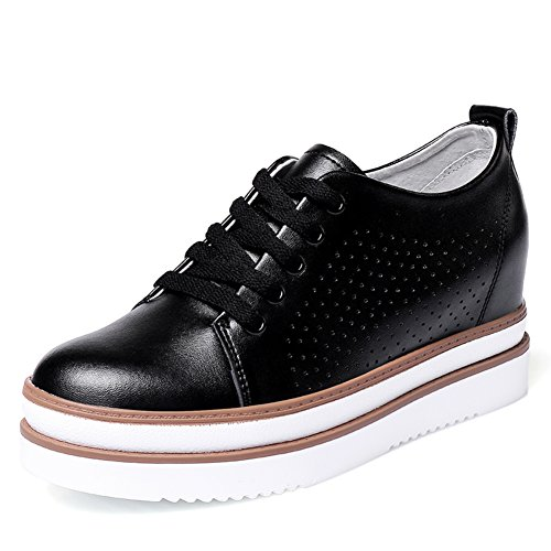 soled The Shoes Spring Thick Flat Female In B Shoes Platform Shoes bottom Leather FdUxURqSn
