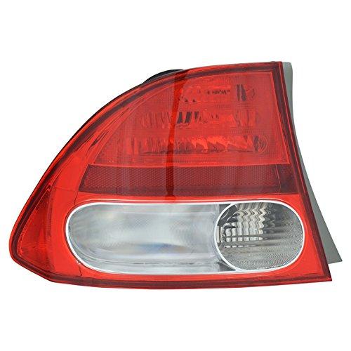 Taillight Taillamp Rear Brake Light Driver Side Left LH for 09-11 Civic Sedan