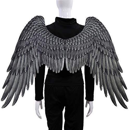 BaronHong Halloween Mardi Gras Costume Cosplay 3D Angel Wings for -