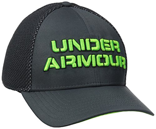 Under Armour Men's Training Mesh Stretch Fit Cap, Stealth Gray/Black, (Black Stealth Fitted Hat)