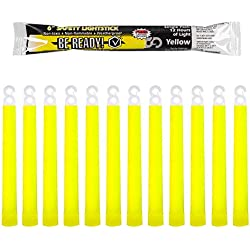 Windy City Novelties Be Ready - Industrial Grade 12 hour Illumination Emergency Safety Chemical Light Glow Sticks (12 Pack Yellow)