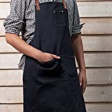 Jiyaru Men's Bib Chef Apron Women's Kitchen Cooks