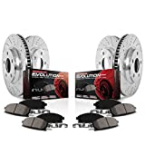 Power Stop K6918 Front and Rear Z23 Evolution Brake Kit with Drilled/Slotted Rotors and Ceramic Brake Pads