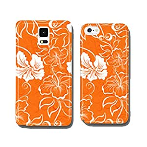 Vector seamless hibiscus flower background . Hawaiian patterns cell phone cover case iPhone6 Plus