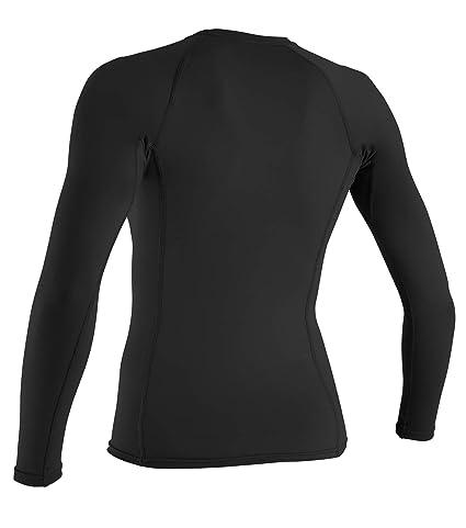 ba1163f47370b5 Amazon.com  O Neill Women s Basic Skins Upf 50+ Long Sleeve Rash Guard   Sports   Outdoors