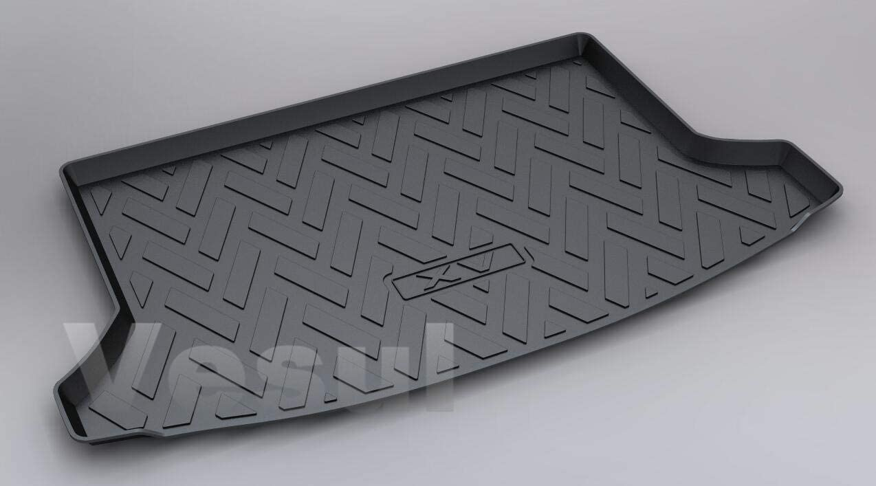 Vesul Rear Trunk Cargo Cover Boot Liner Tray Carpet Floor Mat Compatible with Subaru Crosstrek 2018 2019