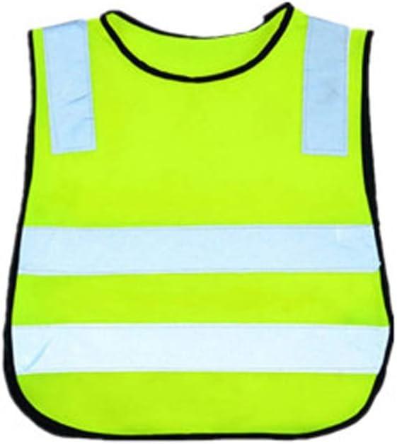 Yxsd-Chaleco reflectante Gris Tiras Reflectantes Ropa de tráfico Infantil Alta Visibilidad (Color : Green)