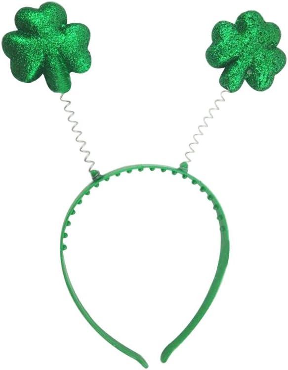 OULII Glittered Green Headbandb Shamrock Boppers Hut f/ür St Patricks Day Party Gef/älligkeiten