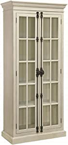 Coaster Home Furnishings 910187 2-Door Curio Cabinet Antique, White and Clear