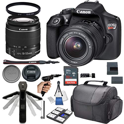 Canon EOS Rebel T6 DSLR Camera w/ 18-55mm Lens + 32GB Card + Photo Accessory 17 Piece Bundle (Best Mid Range Canon Dslr)