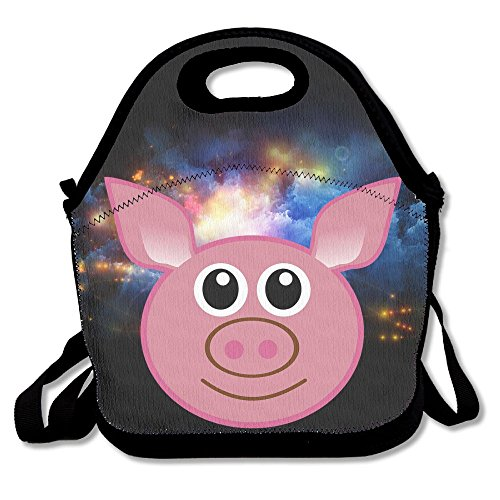 Target Dog Elf Costume (Hoeless Pig Insulated Lunch Backpack With Zipper,Carry Handle And Shoulder Strap For Adults Or Kids Black)