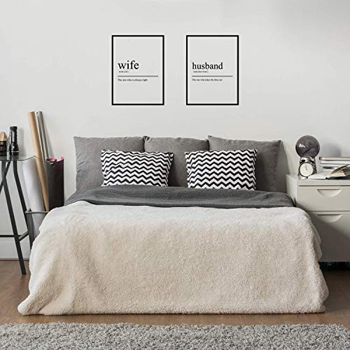 Vinyl Wall Art Decal - Wife and Husband Definition - 25