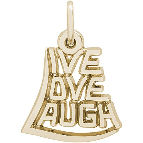 Rembrandt Charms 10K Yellow Gold Live, Love, Laugh Charm (0.55 x 0.62 inches) by Rembrandt Charms