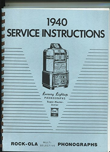 Rock-Ola Phonographs 1940 Multi Selective Jukebox original manual