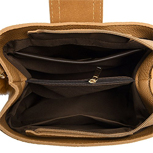 Bandolera Pequeña cuchara Amplia Bandolera bandolera de bolsa Brown bolsa Bolsa Brown q1wZ1Ir