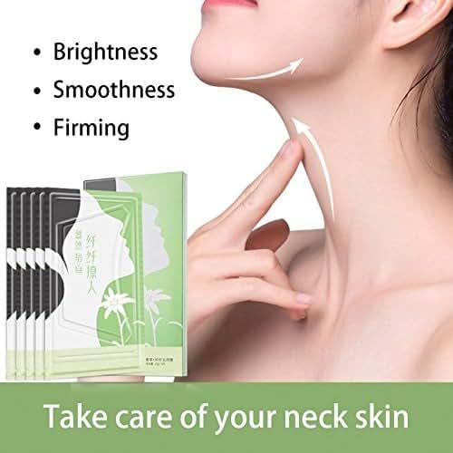 Collagen Neck Masks- 5PCS Neck Lift Mask Sheet for Eliminate and Prevent Neck Wrinkles Best for Neck Skin Whitening Firming Moisturizing Care