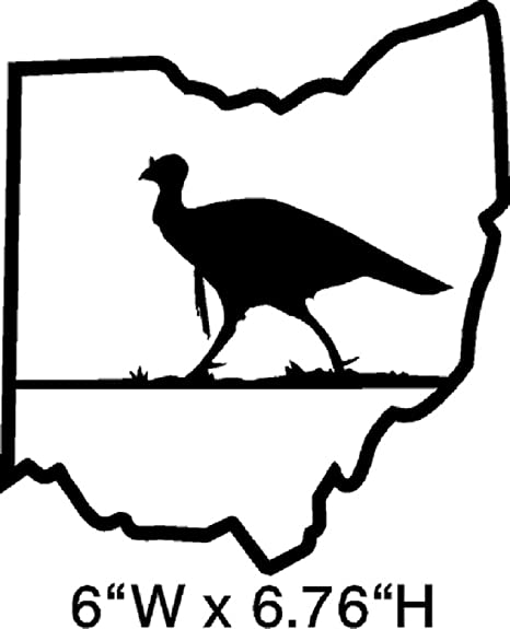Amazon Com Ohio Turkey Hunting Sticker Decal Choose Color Corn