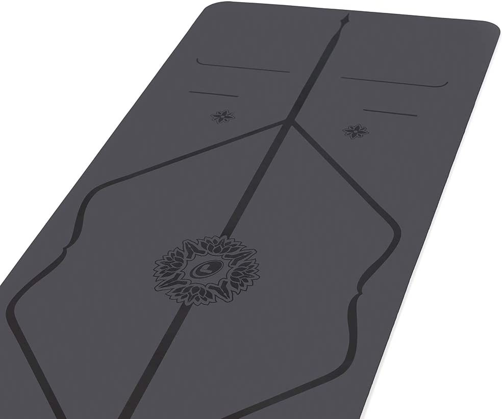 Liforme Gratitude Yoga Mat - The Worlds Best Eco-Friendly, Non Slip Yoga Mat with The Patented Alignment Marker System - Biodegradable and Natural ...