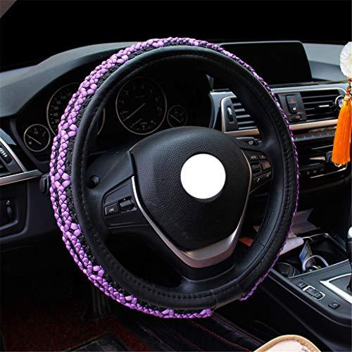 "New Universal Odorless Leather Anti Slip Car Steering Wheel Cover Grip 38cm//15/"""