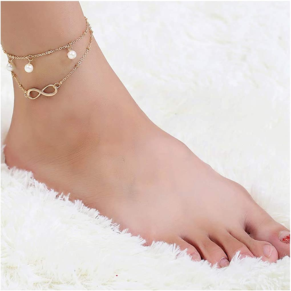 Tgirls Boho Vintage Anklet Bracelet Beach Foot Chain Ankle Accessories Jewelry for Women and Girls