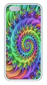 IMARTCASE iPhone 5S Case, Spiral Trippy Colorful Case for Apple iPhone 5S/5 TPU - White