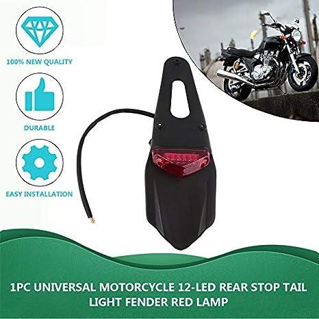 DREAMIZER Moto Dirt Bike Fender Feu arri/ère Moto LED Frein Feux avec Support pour Off-Road SMR 690 CR EXC WRF 250 450 125SX XR DRZ KLX KMX WR125