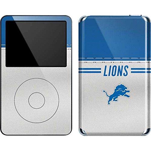 NFL Detroit Lions iPod 5G (30GB) Skin - Detroit Lions White Striped (Lions Case Detroit 5 Ipod)