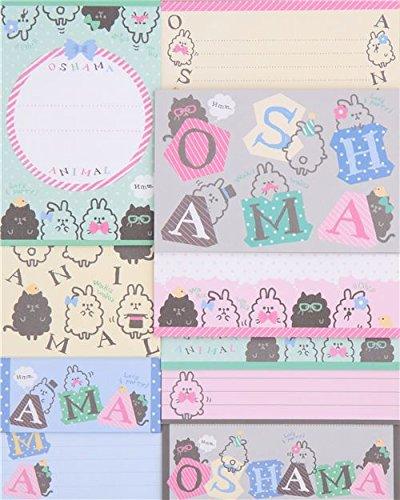 carta da lettere gatti orsi pois colori neon Q-Lia dal Giappone