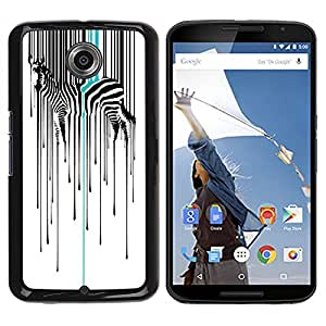 Jordan Colourful Shop - Digital Barcode Zebra Animal For NEXUS 6 / X / Moto X Pro Custom black plastic Case Cover