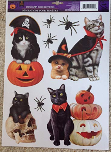 Impact Innovations Static Window Clings Halloween Dogs Cats Wearing Costumes Vinyl -