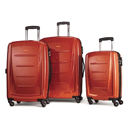 Samsonite Winfield 2 3PC Hardside (20/24/28) Luggage Set, Orange