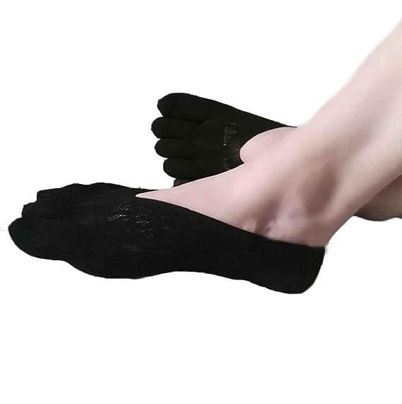 Sannysis - Cinco dedo del pie del calcetínes Yoga, 5-Toe, calcetines cortos
