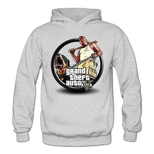 Price comparison product image MARC Women's Grand Theft Auto V Hooded Sweatshirt Ash Size M
