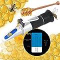 Beekeeper Refractometer Honey 12-27% Water Honey Moisture 58-90% Brix Sugar Baume For Beekeeping, Honey, Condensed Milk, Sugar Syrup, Fruit jam and Molasses, Portable Refractometer from Hanstronik